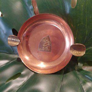 Vintage Copper Inka Man Ashtray